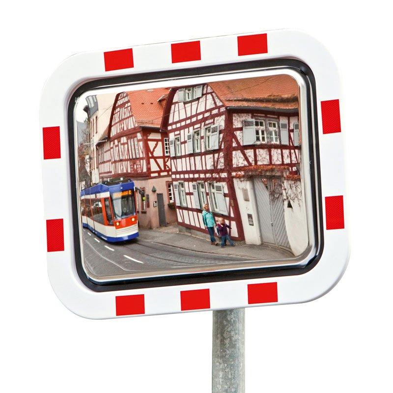 Miroir de signalisation cadre en plastique