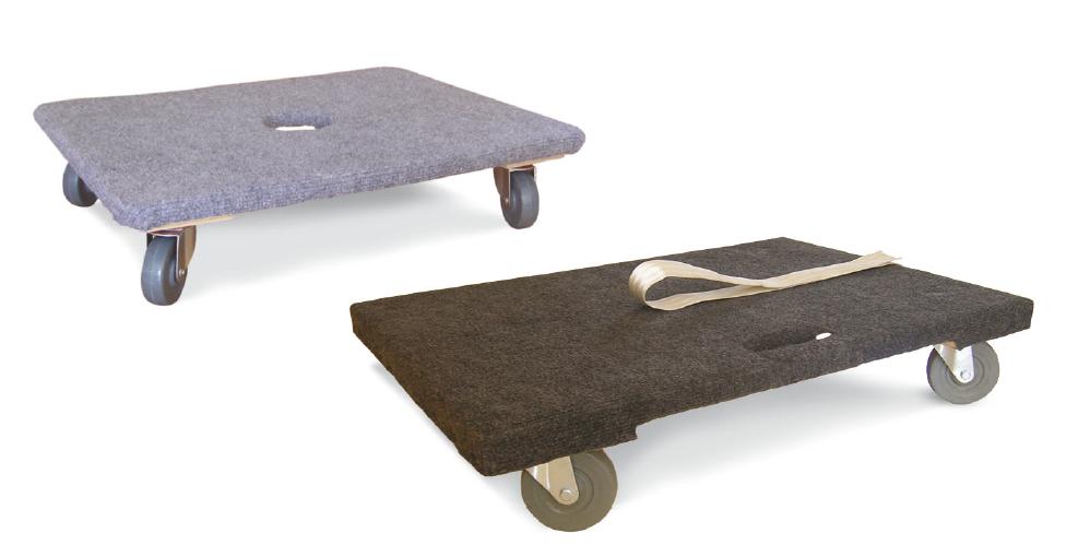 Plateaux roulants en bois avec rembourrage