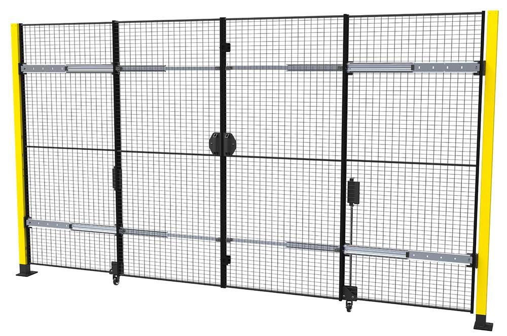 Portes battantes / coulissantes avec fermeture centrale