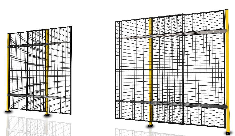 Portes coulissantes avec fermeture centrale sans rail