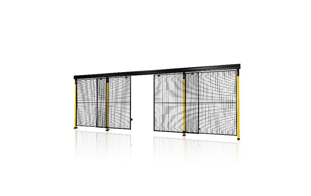 Portes coulissantes avec fermeture centrale