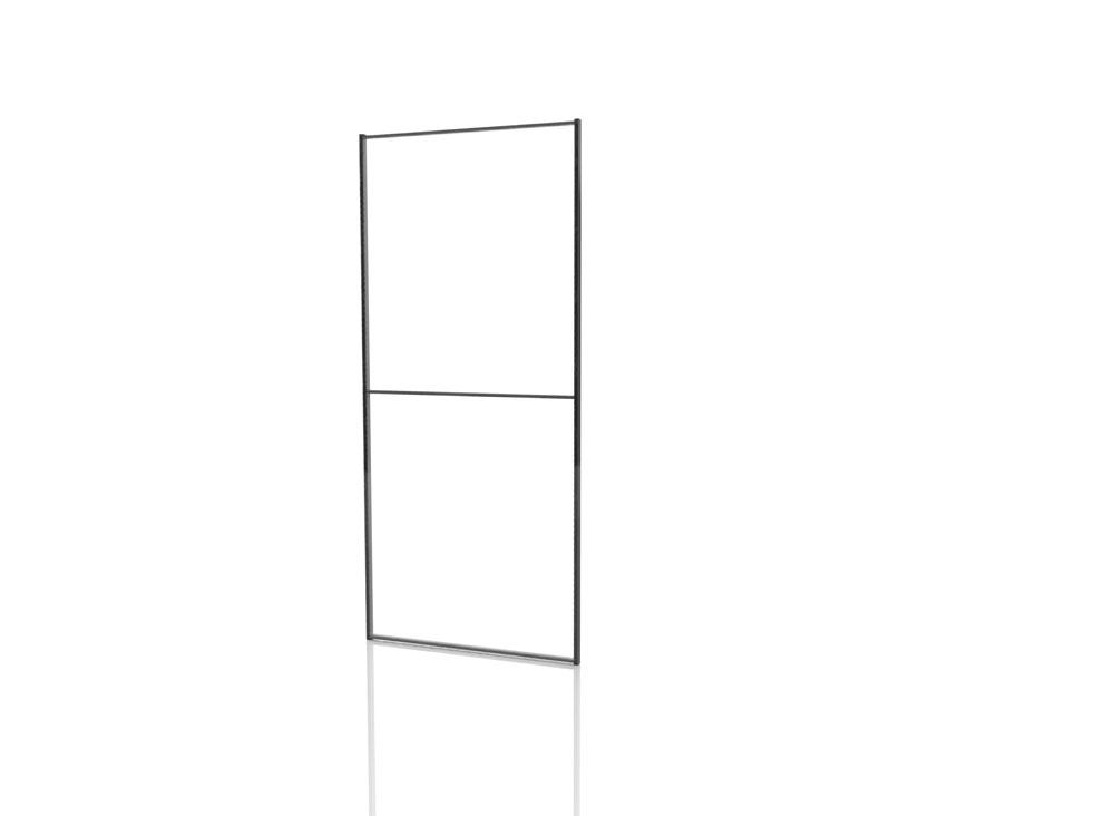 Panneaux polycarbonate 750 mm - Cadre noir