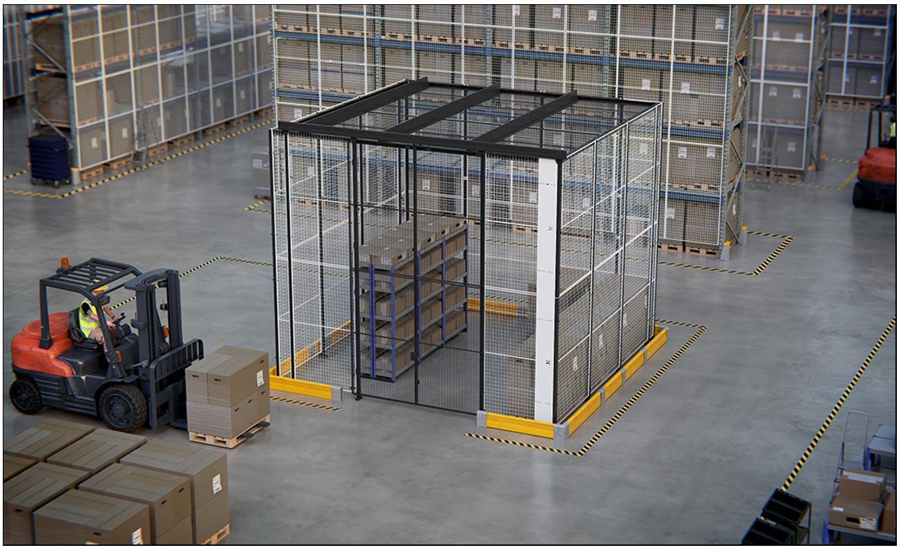 Cloisons grillagées pour la mise en place d'un espace de stockage sécurisé
